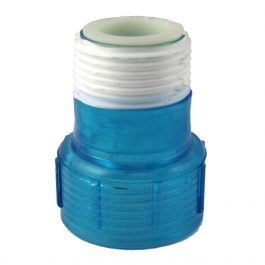 A40011-Aqua-UV-Quartz Cap with Ring Clear Blue