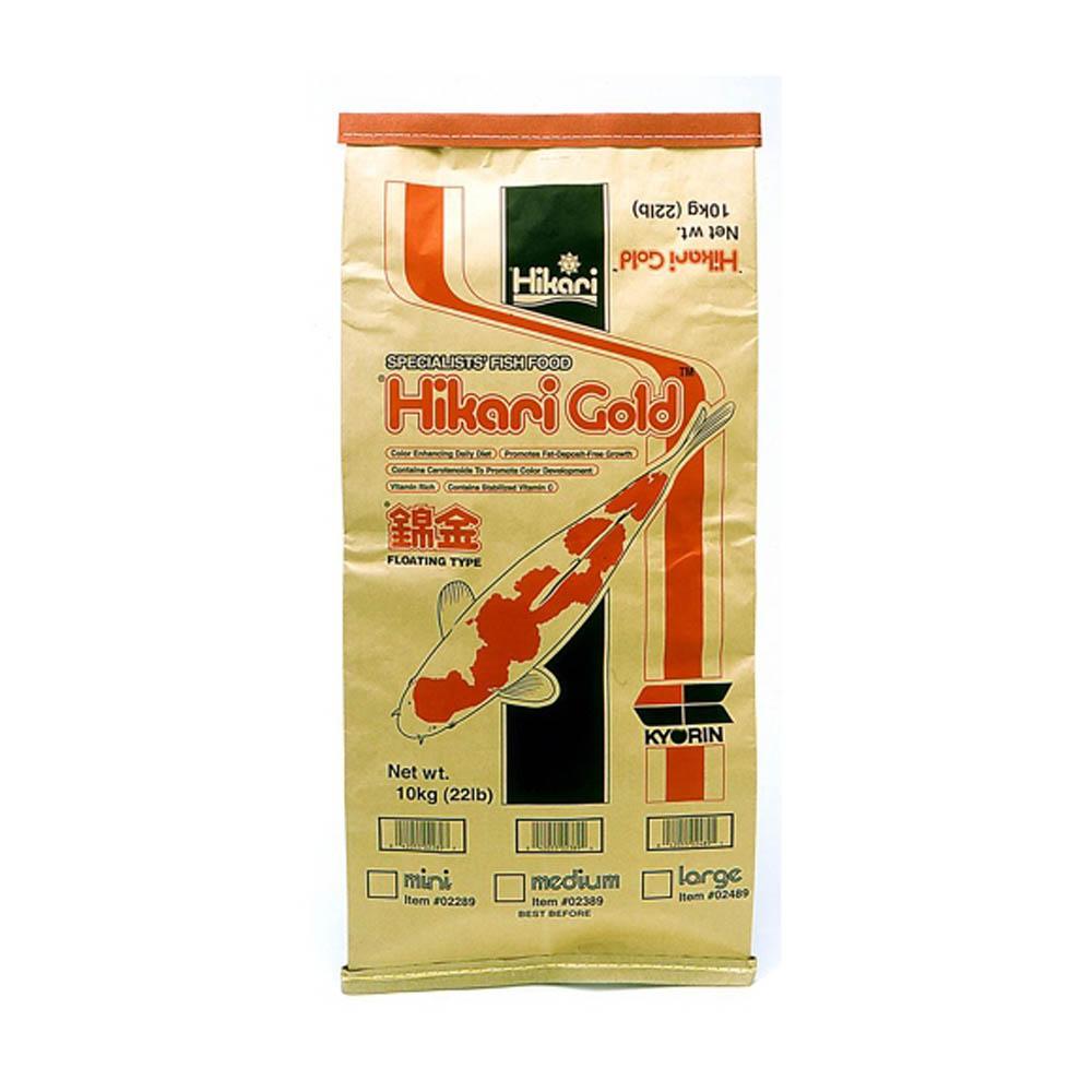 Hikari gold koi food medium 22lbs sheerwater pond for Hikari koi food