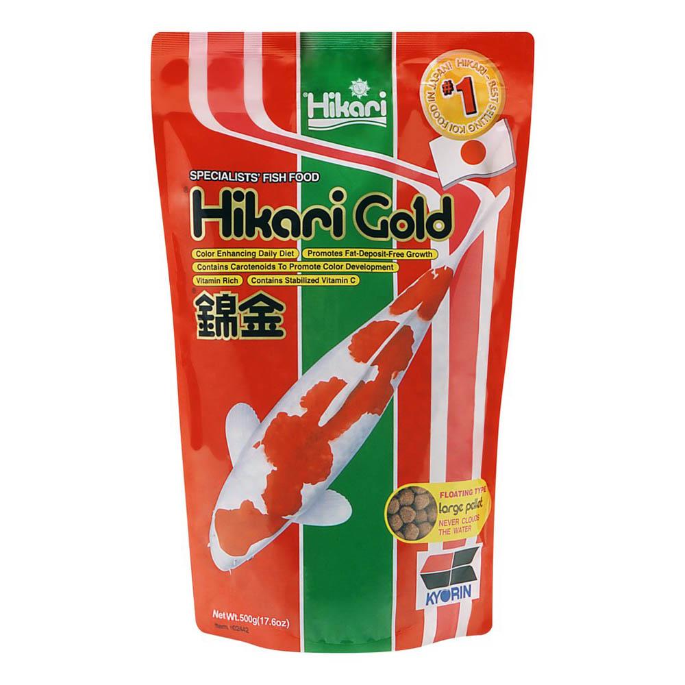 Hikari gold koi food large sheerwater pond for Hikari koi food