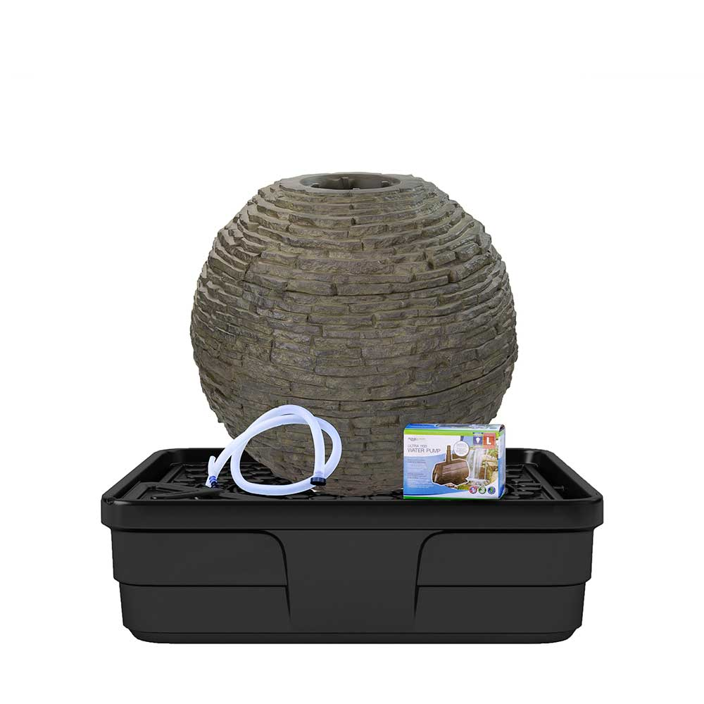 Aquascape - Medium Stacked Slate Sphere Fountain Kit ...